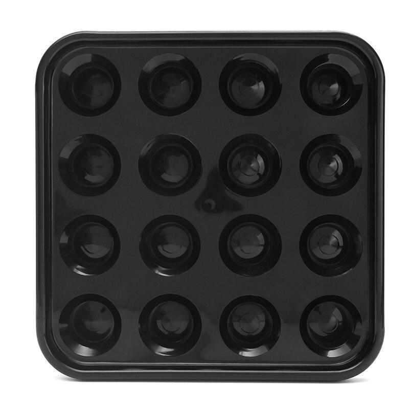 Newest Plastic 16 Holes Stand Storage Tray Pool Snooker Billiard Table Balls Storage Holder Black 25 x 25cm Billiard Accessories