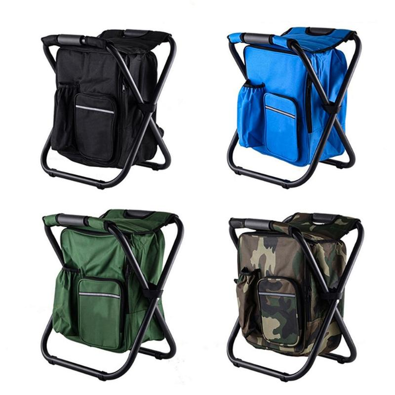 Hot Folding Camping Fishing Chair Stool Portable Backpack Cooler Insulated Picnic Bag Hiking Seat Table Bags Pesca Iscas Tackle