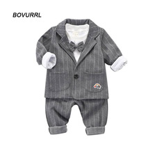 hot deal buy toddler boys clothing set kids boys clothes set autumn children clothing gentleman bow tie three pieces a suits