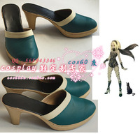 Gravity Rush Cat Green Cosplay Shoes S008