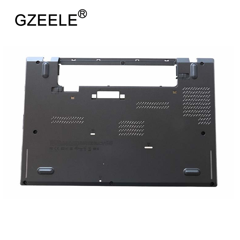 GZEELE New for Lenovo for ThinkPad T440S Bottom Base Cover Case lower case lcd top cover AM0SB000800 04X3988 W/Dock black gzeele new laptop lcd top cover case for lenovo for thinkpad t450s bottom case base cover 00pa886 am0tw000100 w dock lower case