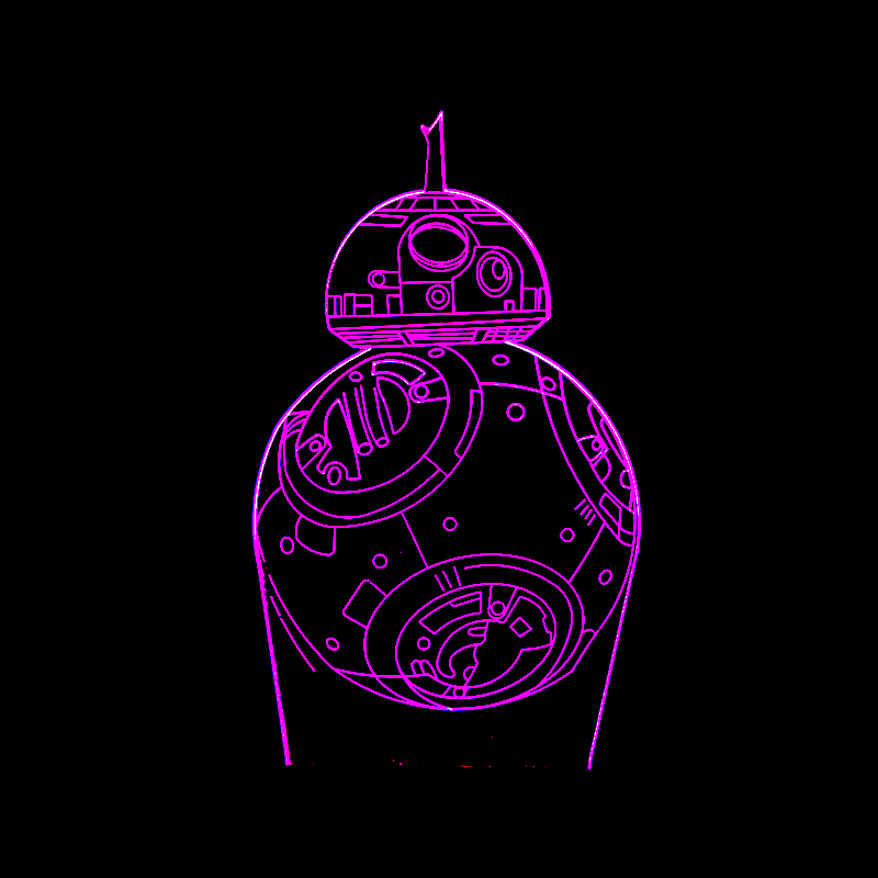Luzes da Noite desenhos animados filme bb-8 robô Suit For : Adults Kids Baby Pregnant Women All Peolple