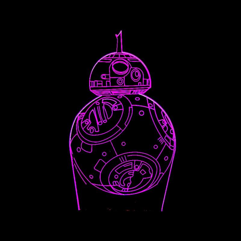 Luzes da Noite desenhos animados filme bb-8 robô Suit For : Adults Kids Baby Pregnant Women All Peolple