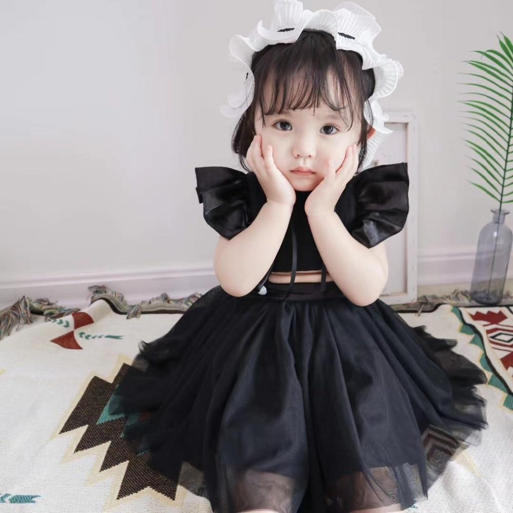 Girls' Clothing Dresses 100% True 2018 Summer Female Baby Strap Dress Print Cute Princess Dress Back Girl Dress