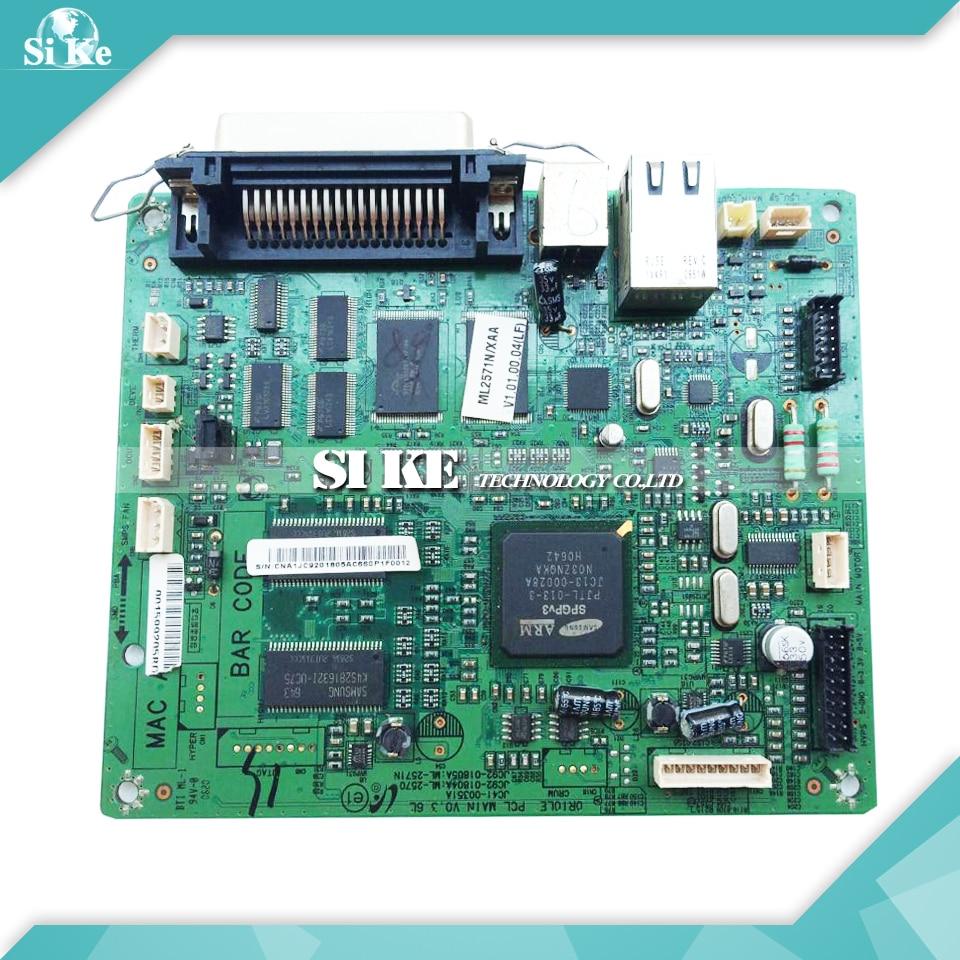 Laser Printer Main Board For Samsung ML-2571N ML2571N ML 2571N Formatter Board Mainboard Logic Board black laser printer bottle toner powder dust refill kit for samsung ml 1210d3 ml 1010 ml 1220 ml 1250 ml 1430 ml 1210 cartridge