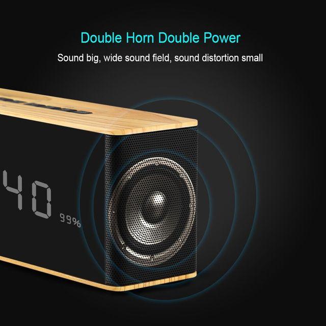 Radio Parlantes Reloj Despertador Con Bluetooth y Memoria USB