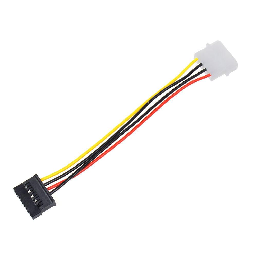 2pcs 4 Pin Ide Molex To 15 Pin Serial Ata Sata Hard Drive