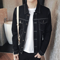 TG6316 Cheap wholesale 2017 new Jean jacket black men's clothing of cultivate one's morality men's jacket coat han edition tide