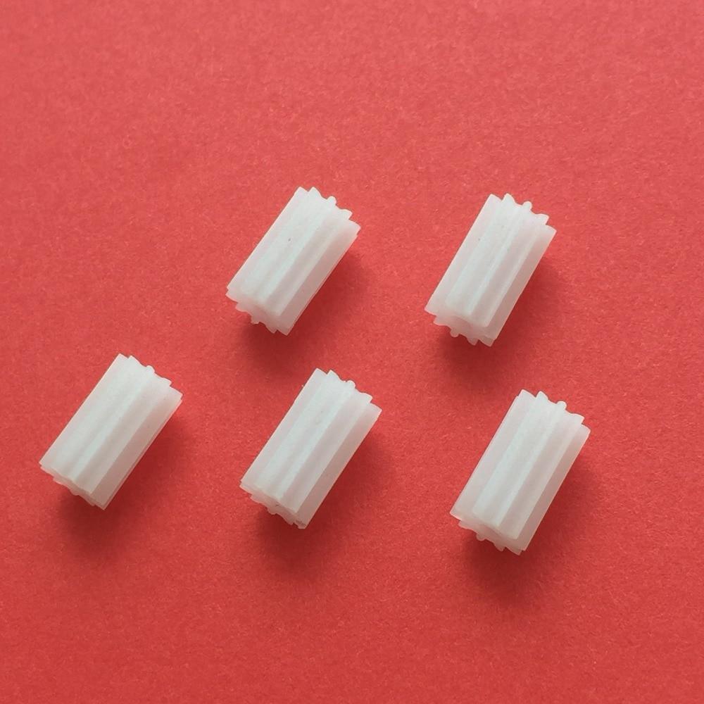 5pcs K846Y 0.5 Module White Color 102A Shaft Gear DIY Micro DC Motor Gears