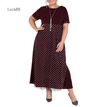 Big Size 5XL 6XL Women Dress Spring Summer Dress Short Sleeve Casual Maxi Dress Long Elegant Party Dresses Vestidos Plus Size 2019 plus size party dresses women summer long maxi dress casual slim elegant dress bodycon female beach dresses for women 3xl
