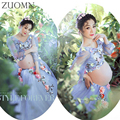 Pregnant Women Flowers Evening Gowns Dress Maternity Photography Props Pregnancy Clothes Maxi Maternity photography Dress YL529