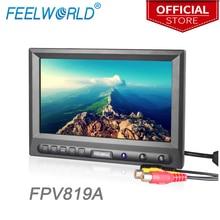 """Feelworld fpv819a 공중 사진 용 8 인치 800x480 fpv 모니터 접지 스테이션 8 """"고휘도 fpv 모니터 hdmi 모니터"""