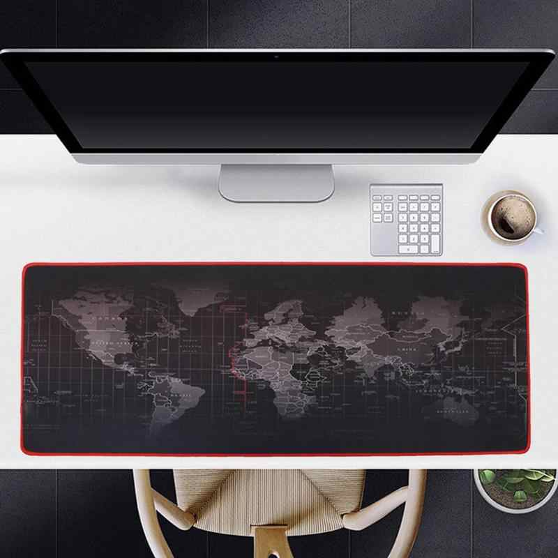Besar Mouse Pad Gamer Big Mouse Mat Gaming Mouse Pad Komputer Mousepad Karet Permukaan Peta Dunia Mause Pad Keyboard meja Tikar