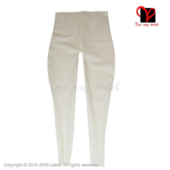 Pantalon à bretelles en latex pour femme leggings sexy en caoutchouc sans pieds - 5