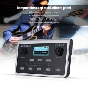 Image 4 - Mooer PE100 マルチエフェクトプロセッサーギターエフェクトペダル 39 エフェクトペダル 40 ドラムパターン 10 メトロノームタップ · テンポ