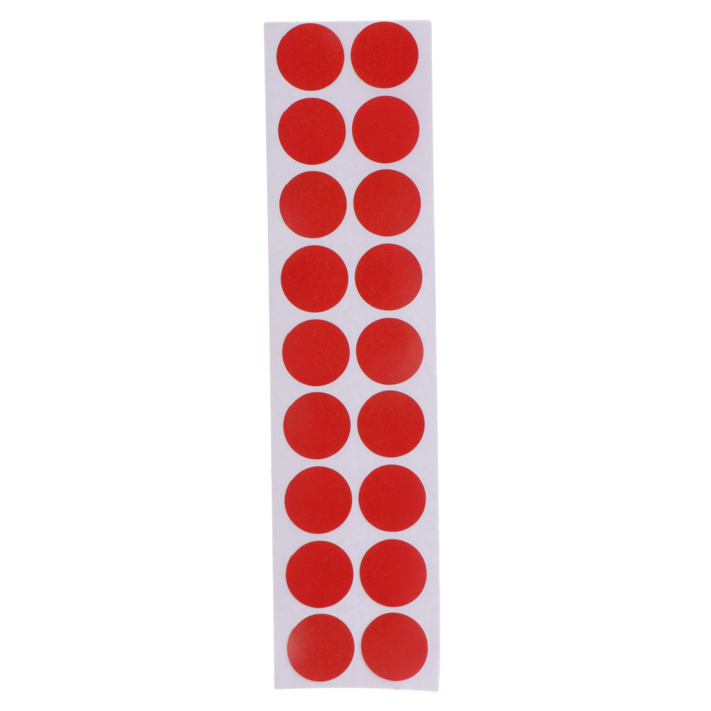 900pcs 2cm Tiro Al Blanco Papel Parches Adhesivo con Arco Salpicadura Pegatinas