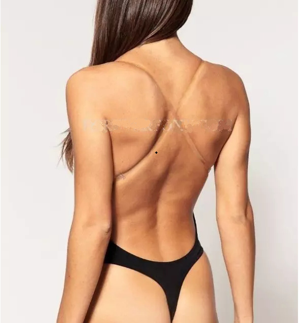 New CLEAR STRAP BACKLESS DEEP Plunge THONG Backless BODY SHAPER S-XL,Women's U Plunge Body Suit