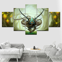 Canvas Painting marmont hill god of evanescence 5 Pieces Modular Wallpapers  Poster Framework Print for living room Home Decor
