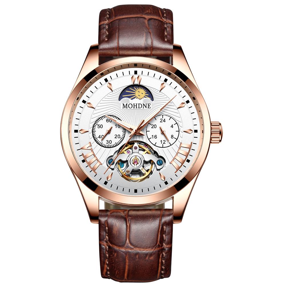 New Male Fashion hollow flywheel automatic men's mechanical watch waterproof full steel luminous mens watches business man clock