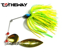Metal lure 1pcs/lot wobblers sinking Fishing Lure Spinnerbait 17g Colorado Willow Blades Flash Chartreuse