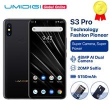 "UMIDIGI S3 PRO 세라믹 6GB 128GB Helio P70 안드로이드 9.0 6.3 ""FHD + 48MP + 12MP 백 카메라 20MP 셀키 카메라 5150mAh 스마트 폰"