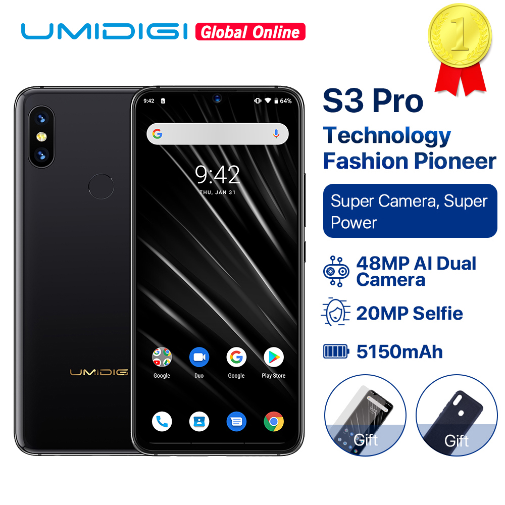 "Image 1 - UMIDIGI S3 PRO Ceramic 6GB 128GB Helio P70 Android 9.0 6.3"" FHD+ 48MP+12MP Back Cameras 20MP Selfie Camera 5150mAh Smartphone-in Cellphones from Cellphones & Telecommunications"