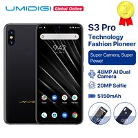 UMIDIGI S3 PRO Ceramic 6GB 128GB Helio P70 Android 9.0 6.3 FHD+ 48MP+12MP Back Cameras 20MP Selfie Camera 5150mAh Smartphone