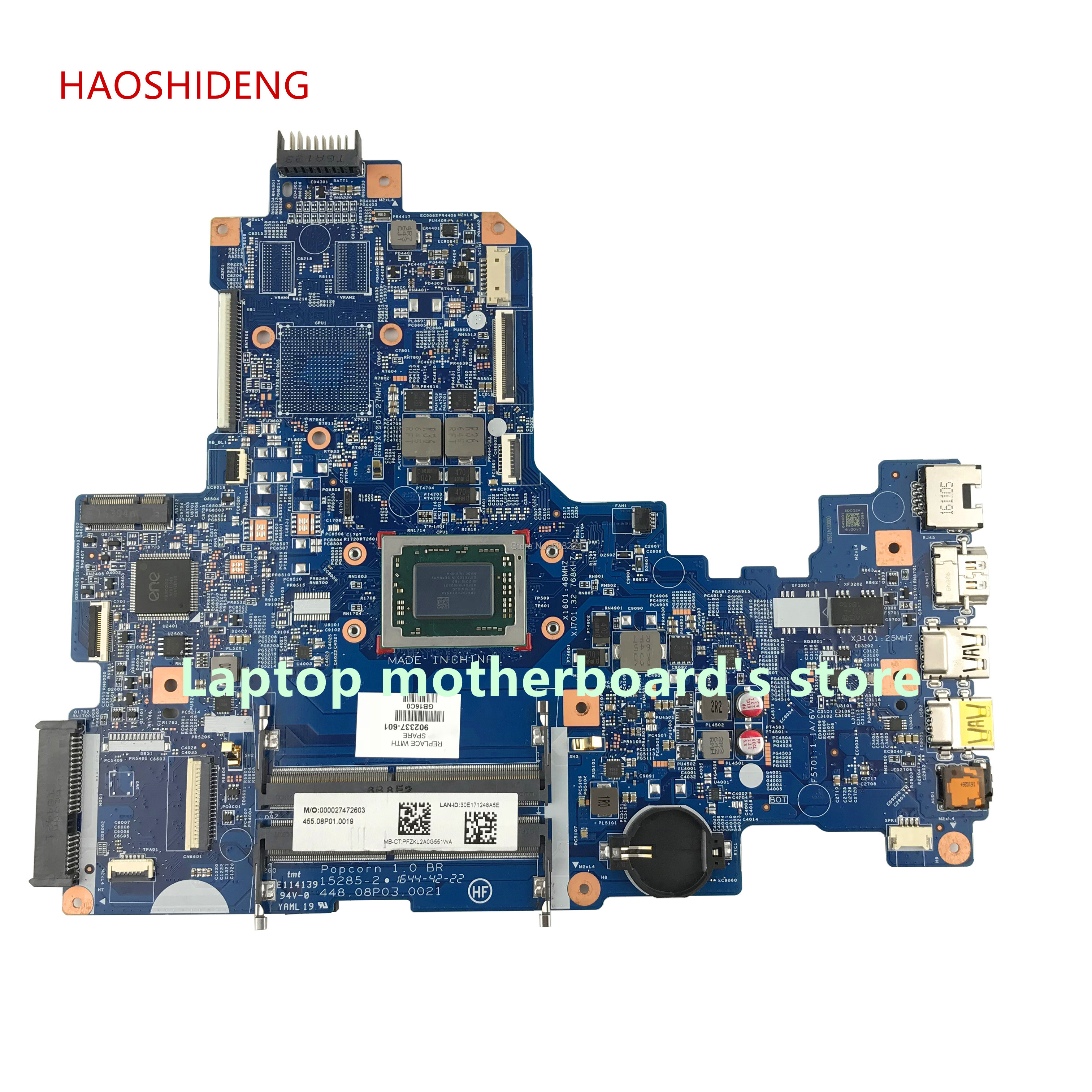 HAOSHIDENG 902337-601 448.08P03.0021 for HP NOTEBOOK 17-Y 17Z-Y 17-Y007CY Notebook motherboard with A12-9700P fully Tested haoshideng 809985 601 809985 001 laptop motherboard for hp pavilion 17 p 17z p notebook day21amb6d0 a76m a10 7300 fully tested