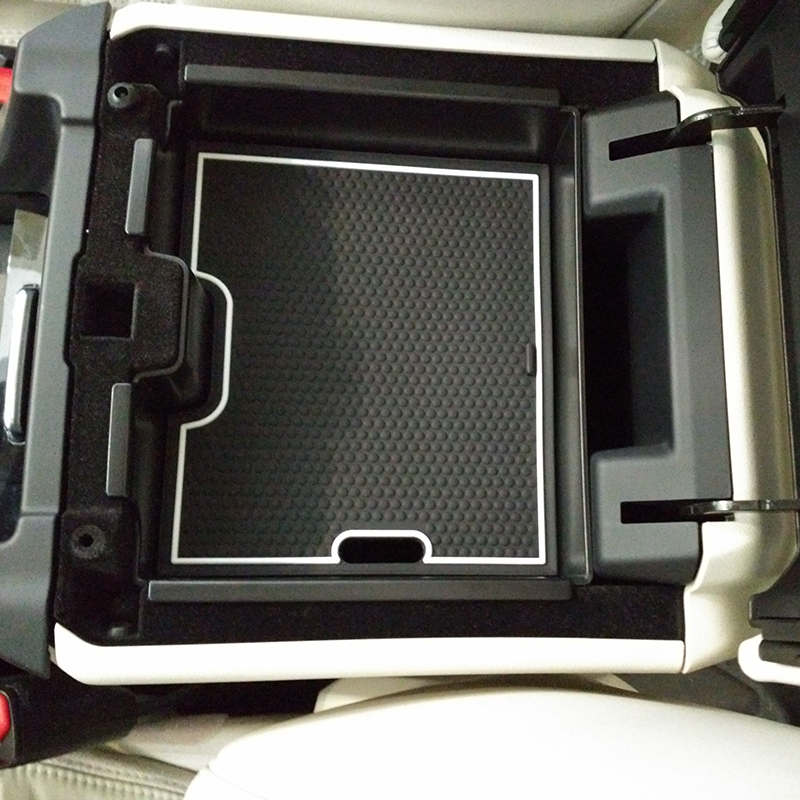 Central Storage Box Door Container For Land Rover Discovery Sport 2015 Accessories beige black for land rover discovery sport 2015 2016 2017 rear trunk security shield cargo cover auto accessories