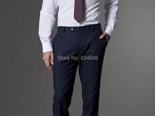 Custom Made Dark Blue Men Suit, Tailor Made Suit, Bespoke Light Navy Blue Wedding Suits For Men, Slim Fit Groom Tuxedos For Men