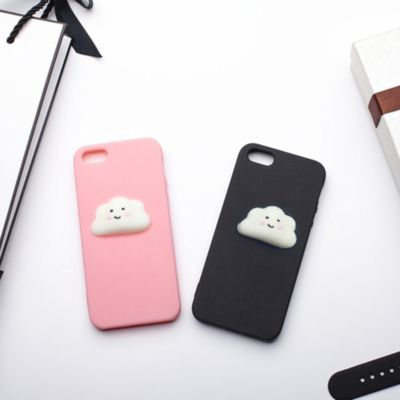 HOPELF Fitted Case for iPhone 5s Case Silicone 3D Cartoon Cute Squishy for Coque iPhone 5
