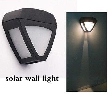 10pcs Solar 2 LED Delta Wall  Light Intelligent light control 1.2V/1200mAh AA Ni-MH for home/ corridor garden lamp
