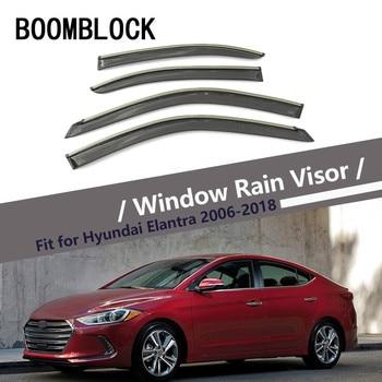 High Quality 4pcs Smoke Window Rain Visor For Hyundai Elantra 2018-2006 Styling ABS Vent Sun Deflectors Guard Car accessories