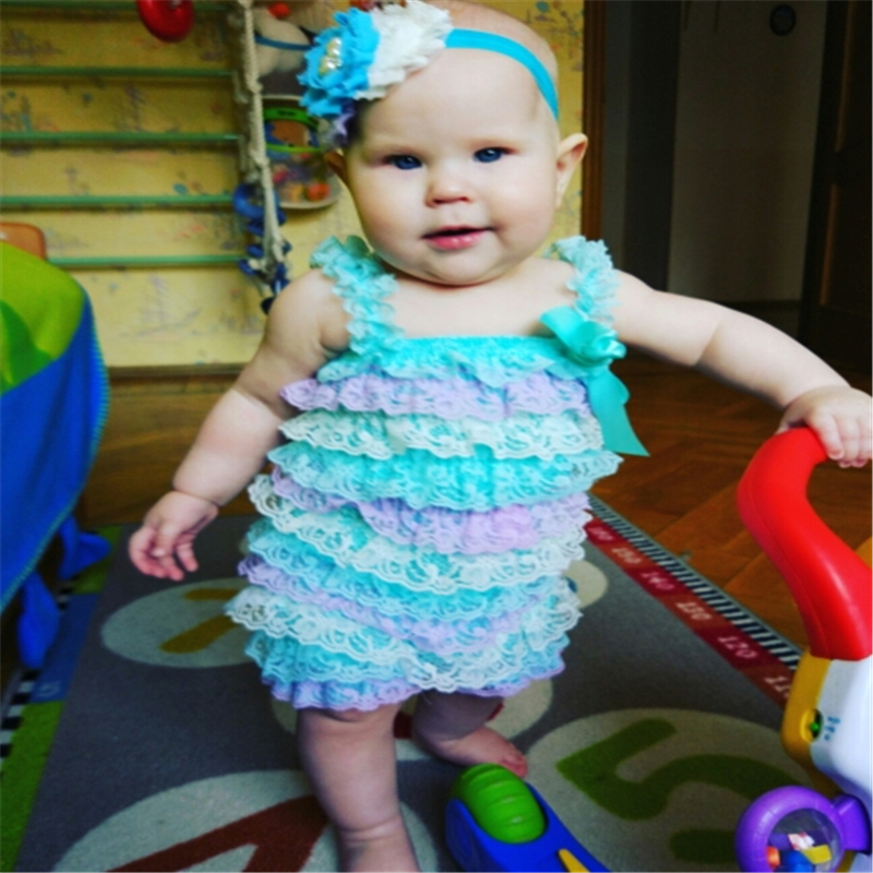 Baby Girl Romper Lovely Baby Girls Toddler Kids Lace Petti Ruffle Romper Set Jumpsuit Strap 0~24M Halloween Costume baby romper lace petti with shoulder strap and satin bow for toddler new born baby girl romper clothing
