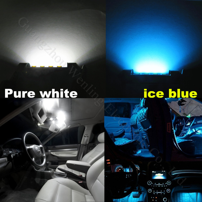 Car Interior Light Bulbs: 19pcs Pure White Canbus Dome Footwell Trunk Lighting Bulb LED Car Interior  Light Kit for BMW,Lighting