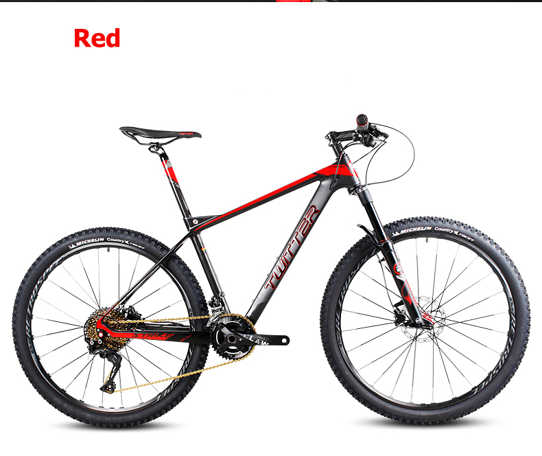 Free shopping 26/27.5inch carbon fiber mountain bicycle 27speed Shima fork oil disc brakes gas ultralight carbon fiber frame mt