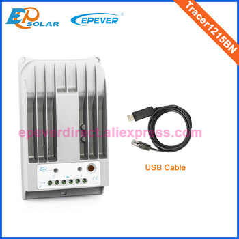 24V controller MPPT 10A 10amps regulator for 12V 130W solar panels system EPEVER Solar controller Tracer1215BN+USB cable