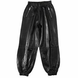 2019 Leather Pants Women Sheep Skin Elastic Waist High Quality Streetwear Korean Harajuku Leather Harlan Pants