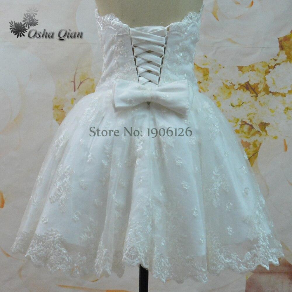 Importados Lindo Corto Vestido de Novia de Encaje Mini vestido de ...
