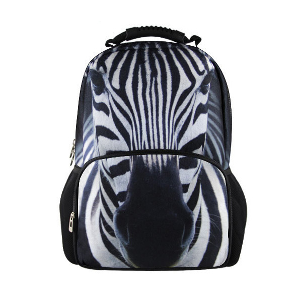 FORUDESIGNS New animal zebra backpack for women black and white striped female backpack casual teenager girls