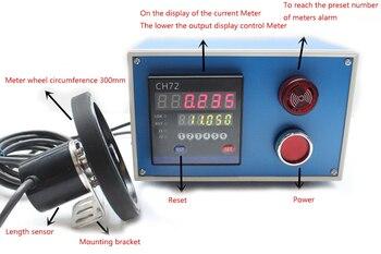 Electronic Digital Meter Encoder Length Counter Meter Wheel Roll Length Measuring Meter