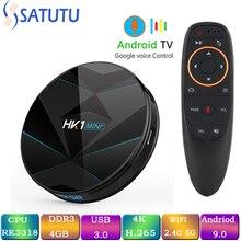 HK1 Mi ni Smart Tv Box Android 9.0 Set Top Box 4K Mi Tv Box 4gb 32gb 64gb Quad Core media player Support IPTV PK HK1 MAX X96MINI android 9 0 tv box hk1 mini 4gb ram 32gb 64gb rom rk3318 quad core smart tv box 2 4 5 0g wifi bt4 0 4k 3d set top box