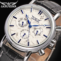Мода Jaragar Лидирующий бренд Blue Sky серии элегантный дизайн натуральная кожа мужские s бизнес часы роскошные часы Мужские автоматические