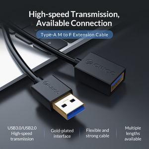 Image 4 - Удлинительный кабель ORICO USB 3,0 2,0, кабель «Мама папа», удлинитель для передачи данных для умных устройств, 0,5 м/1,0 м/1,5 м/2,0 М/3,0 м