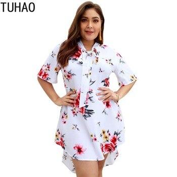 c0312b3fef56 TUHAO 2019 Vestido de manga acampanada a rayas de primavera elegante  vestidos de mujer de oficina ...