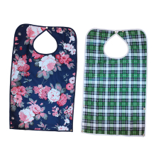 Pack of 2 Reusable Waterproof Eating Bib Adult Mealtime Clothing Protector Disability Dining Patient Aid Apron