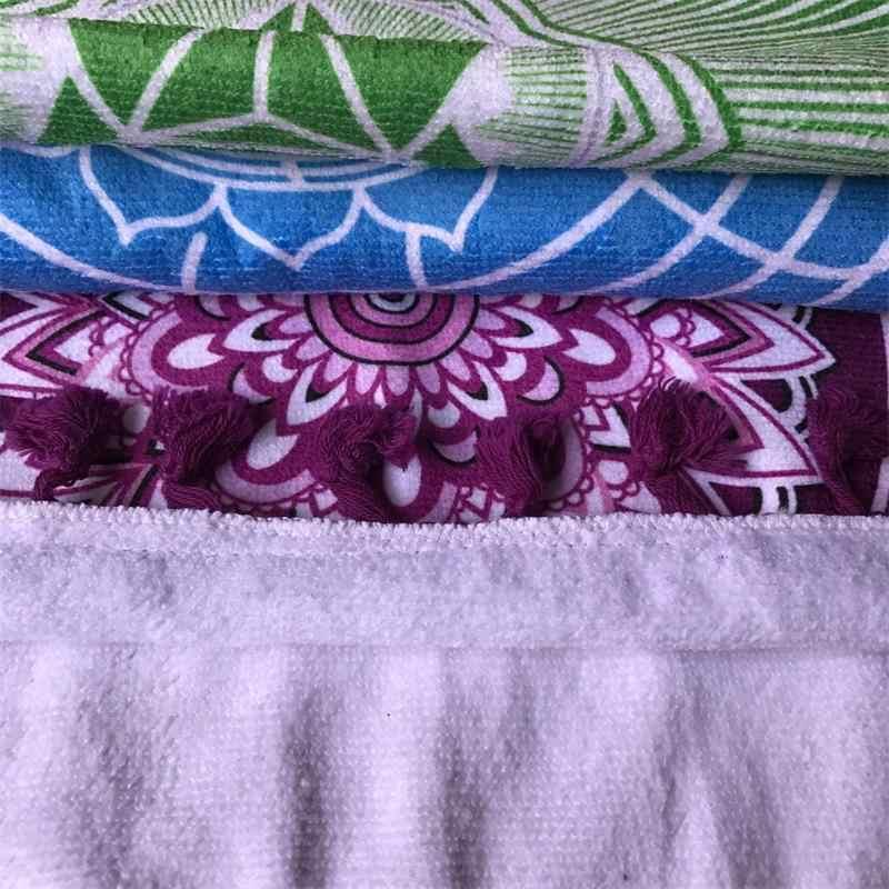 Nuevo Material de tela de microfibra Bohemia India Mandala manta 7 Chakra arcoíris rayas tapiz Toalla de playa y esterillas de yoga Toalla de baño