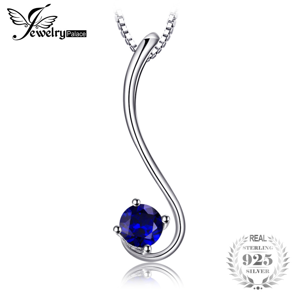 Jewelrypalace Simple 0.6ct Created Blue Sapphire