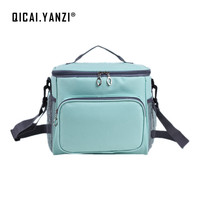 QICAI YANZI Kid Portable Oxford Cloth Lancheira Food Lunch Shoulder Bags Large Capacity Bolsa Termica Cooler