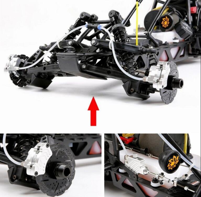 Переднее колесо гидравлическая тормозная система для 1/5 масштаб Hpi КМ Baja 5b 5SC RC части автомобиля